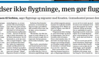 Quoted on the front page of Kristeligt Dagblad