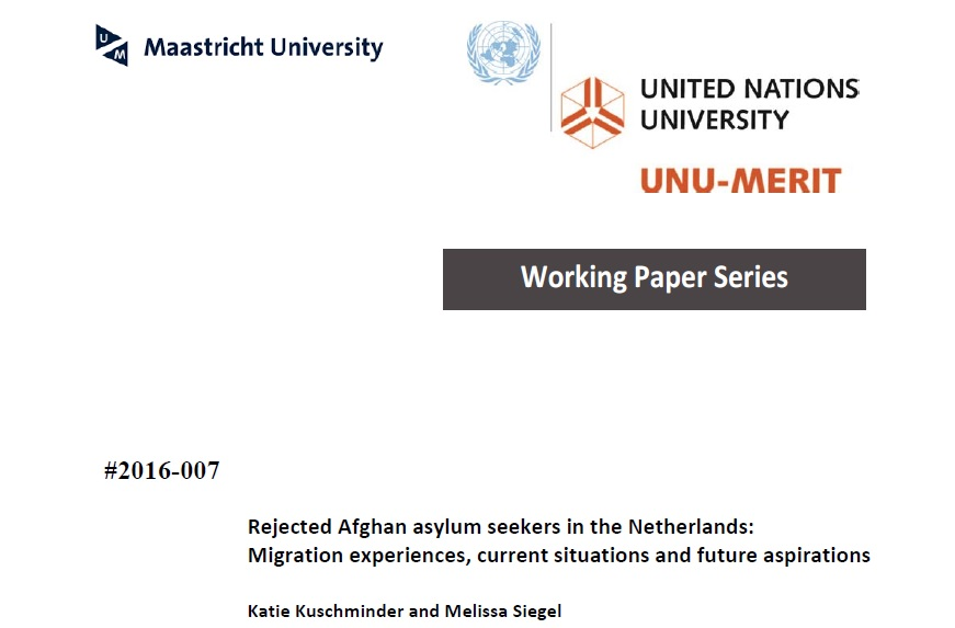 New Working Paper: Rejected Afghan asylum seekers in the Netherlands