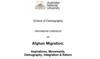Australian National University School of Demography Afghan Migration Conference Canberra
