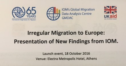 Presentation at IOM Launch Event in Athens on Understanding Safe and Sustainable Return