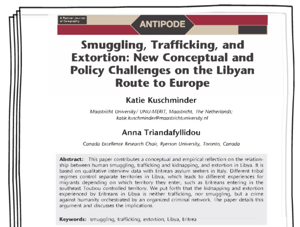 Article: Smuggling, Trafficking, and Extortion: New Conceptual and Policy Challenges on the Libyan Route to Europe